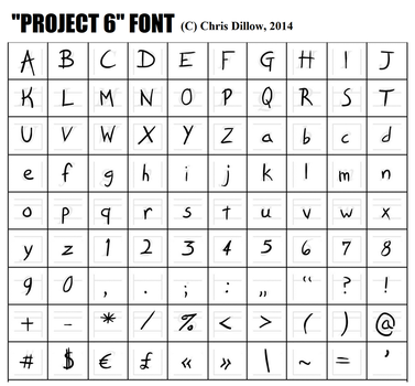 Project 6 Font by christhedillow