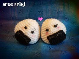 Onigiri couple by ArteFriki