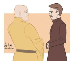 Game of Thrones - The Spider and Littlefinger by howardshum