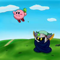 Meta Knight and Kirby's icecream day by MidKnight-story