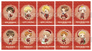 Hetalia Christmas Greeting Cards by blackeyebags