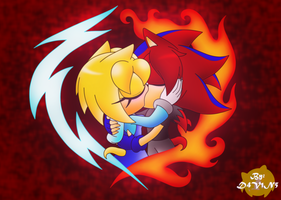 :Old Art: Electric Fire by D4V1N5