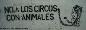 No Animals in Circus Stencil by Lorfis-Aniu
