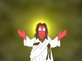 Dr. Zoidberg as Jesus by KoRnyKattos
