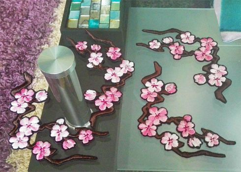 Cherry Blossom branches ~ Embroidered patches by goiku