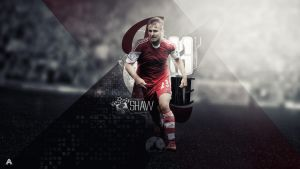 Luke Shaw Wallpaper by AlbertGFX