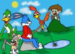 can't buster just go fishing with out the others by Shadowtek25