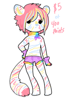 Pastel Tiger Adopt ++Adopted++ by CoffeeBeanFox