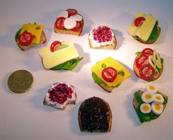 Miniature Sandwich by ChocolateDecadence