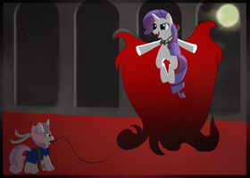 Request: Rarity Vs SweetieBelle by Kitmit
