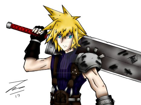 Cloud Strife (2017) by ExusiaSword
