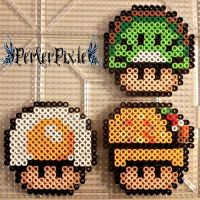 Food Mushrooms 2 by PerlerPixie