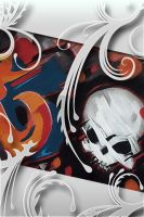 Skull Graffiti iPhone wall by DeviantSith