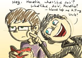 What'cha Doin' Horatio? by Shaed-Knightwing