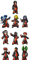 complete clan akatsuki sprites by master-suicune