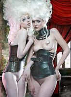 Acedia and Gula Corsets by AntisepticFashion