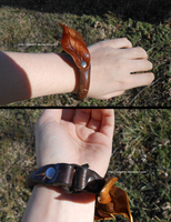 Elven Leaf Bracelet on Arm by atsed11