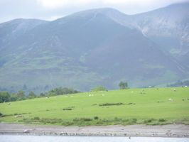 View of Mountains from Derwentwater by rlkitterman