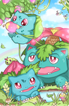 Pokefamily Vacation : Bulbasaur by Geegeet