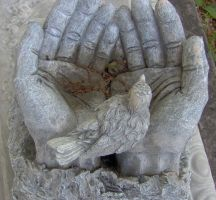 Grave Stone Hands by seiyastock