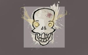 Mad Skull Wallpaper (Box) by TemplarOfBacon