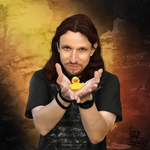 Tony Kakko and the Rubber Duck by Waffle-the-kitten
