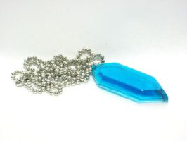 Legend of Zelda Blue Rupee Necklace by SaphirazlilJewels