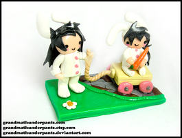 Bunny Madara and Izuna Figure by GrandmaThunderpants