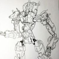 Inktober Recon Mech concept by NoriToy