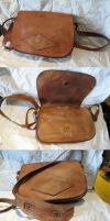 Leather project bag by Durnstaros