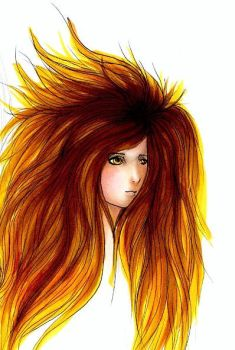 Little Lion Girl by 13-is-Midnight