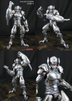 Ultron Mark II custom action figure by Jin-Saotome
