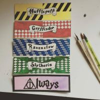 Harry Potter bookmarks by starksandlannisters