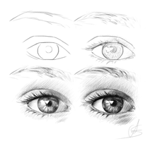 Realistic eye tutorial by StyrbjornA
