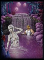 waterfall scene - commission by nightwing1975
