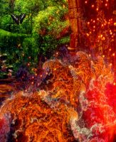 A Garden Amidst the Flames Detail 5 by amethystmoonsong