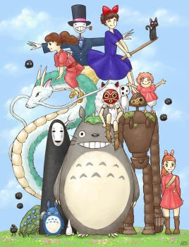 Studio Ghibli tribute by Mannylinn