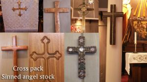 Church stock: cross pack by Sinned-angel-stock