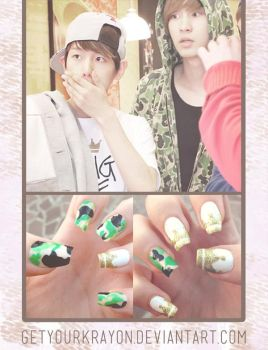 EXO - BaekYeol Nails by GetYourKrayon