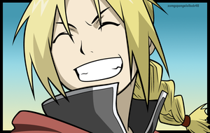 Ed Elric: Smiley by zomgspongelolbob48