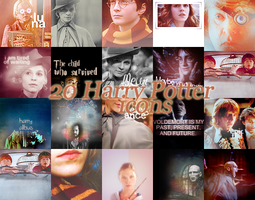 20 Harry Potter icons by ChantiiGG