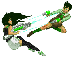 Dueling Time with Jade and Jake! by Zee-Rage-Man