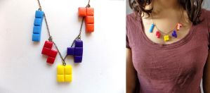 Tetris necklace by curry-brocoli