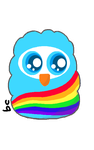 Rainbow Owlet Adoptable by BeCharming