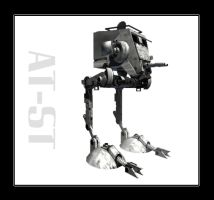star wars AT-ST by rickkhunter