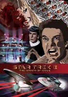 Star Trek 2 Wrath of Khan by eosvector