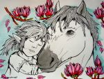 [Indian Ink] A little tenderness in the wild ... by BlackDragon07