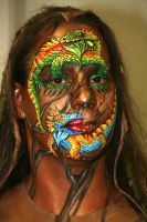 Facepainting Reptilien by iacubino