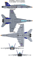 Vampires VX-9 FA-18 Hornet by bagera3005