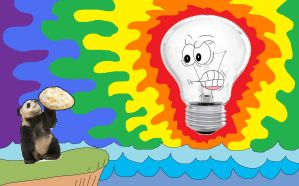 The Light-Bulb God by AVRICCI